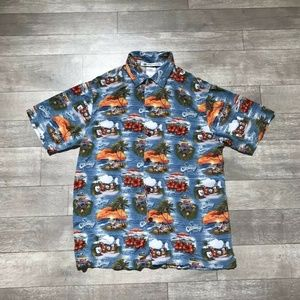 Disney Castaway Cay Button Up Shirt S DCL Aloha